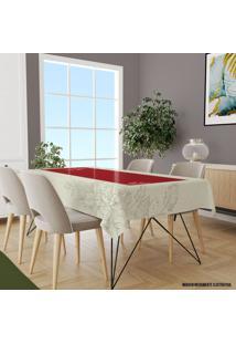 Toalha De Mesa Retangular Para 6 Lugares Linhas Folhas Premium 1.45M X 2.20M ÚNico - Multicolorido - Dafiti