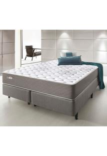 Cama Box Queen Ecoflex Relax Access 158X198X65 Cm Molas Pocket - Cinza