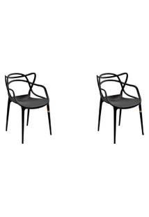 Kit 02 Cadeiras Allegra Preta Rivatti