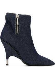Giuseppe Zanotti Design Bota Jeans Com Salto Agulha - Azul
