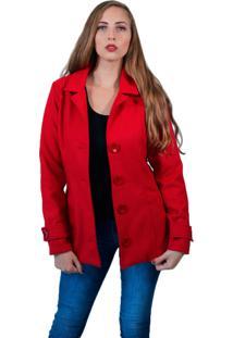Casaco Baiki Badhai Trench Coat Vermelho