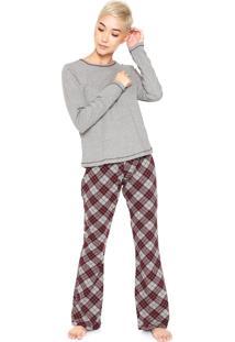 Pijama Hering Xadrez Cinza