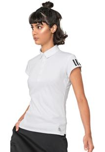 Camisa Polo Adidas Performance Club 3 Stripes Branca