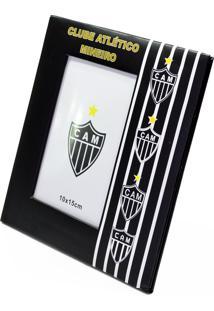 Porta Retrato Minas De Presentes De Resina Para 1 Foto 10X15Cm - Atlético Mineiro Preto