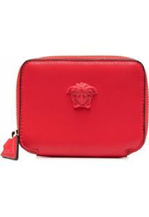 Versace Carteira Com Aplicação Medusa - Vermelho