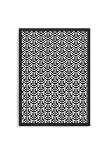 Quadro Decorativo 33X43Cm Nerderia E Lojaria Textura 06 Preto