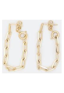 Brinco Fio De Correntes Com Encaixe De Altura Para Usar De Duas Formas   Accessories   Dourado   U
