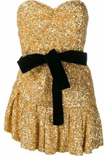The Attico Sequined Mini Dress - Dourado