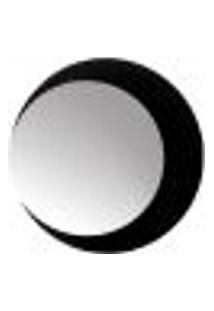 Espelho Decorativo Lua Crescente Preto 50 Cm Redondo