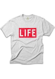 Camiseta Cool Tees Revista Life Magazine - Masculino-Mescla Claro