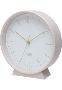 Relógio Quartz Branco E Rosa 16X15X4