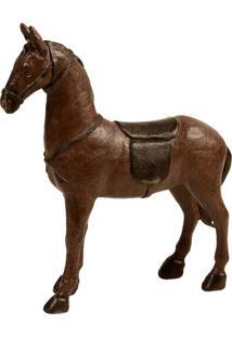 Escultura Decorativa De Resina Cavalo Celado