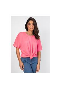 Blusa Myah Lene Rosa Neon