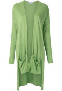 Mara Mac Cardigan De Tricô Com Bolsos - Verde