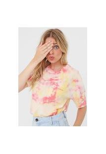 Blusa Billabong Beach Comber Tie Dye Amarela/Rosa
