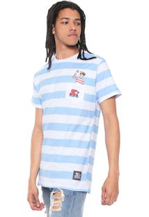 Camiseta Starter Wally Cloth Branca/Azul