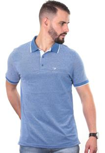 Camisa Polo Cp0710 Slim Traymon Azul