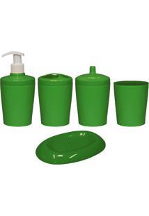 Kit Para Banheiro Ravi 5 Peças Verde