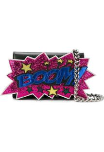 Dolce & Gabbana Clutch Boom Com Patches - Preto