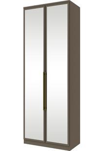 Guarda-Roupa Modulado Com Espelho 2 Portas Diamante Ii M313-Henn - Damasco