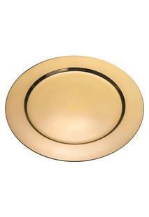 Sousplat Redondo Inox Royal 27330 33Cm Dourado