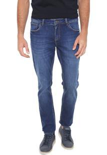 Calça Jeans Dudalina Reta Estonada Azul