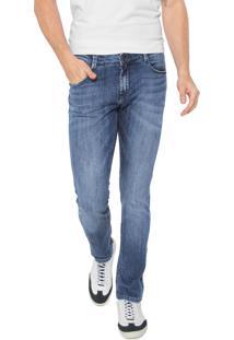 Calça Jeans Dudalina Slim Estonada Azul
