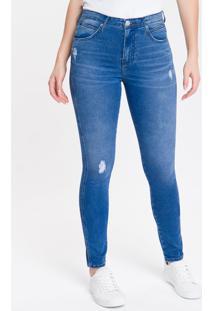 Calça Jeans Feminina Sculpted Skinny Cintura Alta Azul Royal Calvin Klein - 34