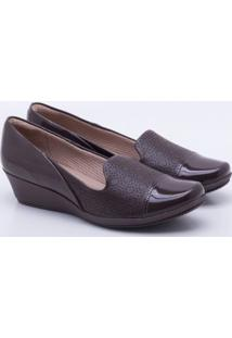 Mocassim Anabela Piccadilly Marrom 34