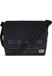Bolsa Carteiro De Lona Jack - Unissex-Azul Escuro