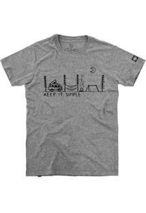 Camiseta Stoned Keep It Simple Masculina - Masculino-Cinza