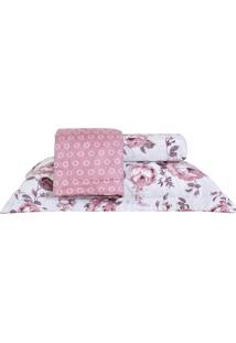 Colcha Ultrassonic Casal Com Porta Travesseiro Natura