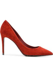 Dolce & Gabbana Scarpin De Camurça - Vermelho