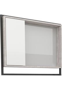 Espelheira Em Mdp Apoema 79,5X70Cm Branca E Cálcare