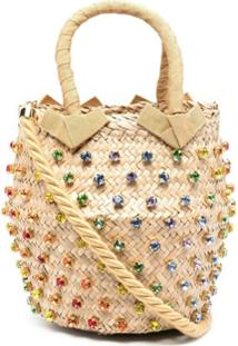 Le Nine Nina Crystal-Embellished Shoulder Bag - Neutro