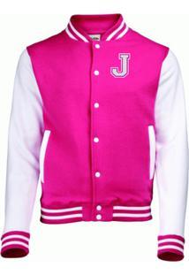 Jaqueta College4Ever Letra J Bordada Pink