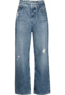 Ag Jeans Calça Jeans Pantalona Knoxx Cintura Alta - Azul