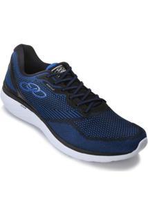 Tênis Olympikus Breed Op18-444 Masculino - Masculino-Preto+Azul