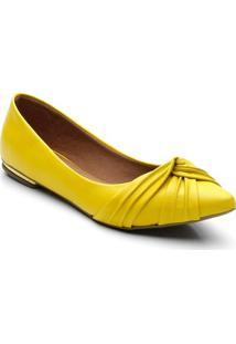 Sapatilha Violanta Bico Fino Indonesia Feminina - Feminino-Amarelo