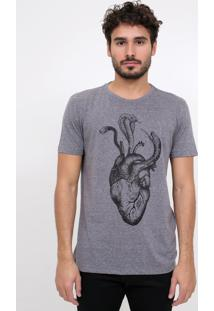 Camiseta Coração E Cobra