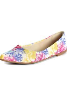 Sapatilha Promocional Scarpan Calçados Finos Florido Colorido
