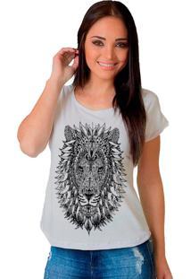Camiseta Shop225 Leã£O Tattoo Branco - Branco - Feminino - Dafiti