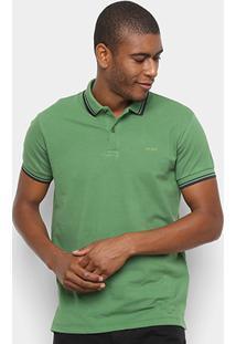 Camisa Polo Colcci Básica Masculina - Masculino-Verde