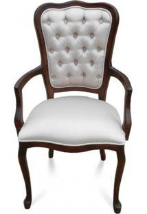 Cadeira Com Braço Inglesa Madeira Maciça Design De Luxo Peça Artesanal