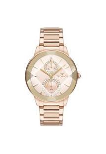 Relógio Technos Feminino Crystal Analógico Rosé 6P73Ae1T