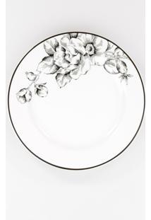 Conjunto De Pratos Para Sobremesa Porcelana Schmidt 06 Peças - Dec. Laura