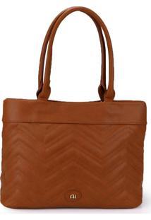 Bolsa Shopping Bag Ana Hickmann Caramelo