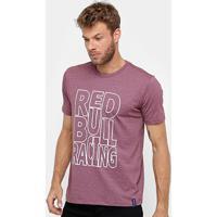 adfe16169bc1e Camiseta Red Bull Racing Color Masculina - Masculino-Rosa