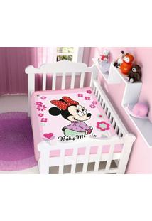 Cobertor Infantil Disney Rosa Minnie Florzinhas Jolitex