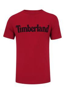 Camiseta Timberland Ss Kennebec Linear Logo - Masculina - Vermelho/Preto